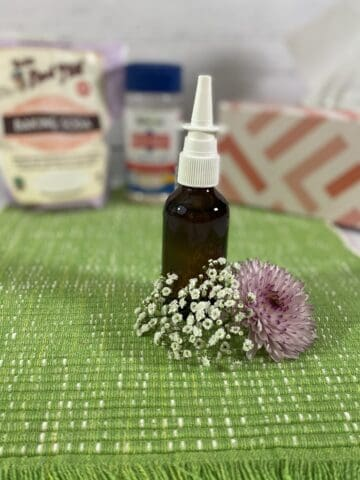 Homemade saline nasal spray