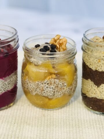 Chia seed pudding parfaits in 3 easy ways