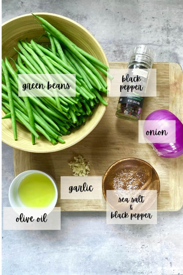 ingredients for sauteed green beans