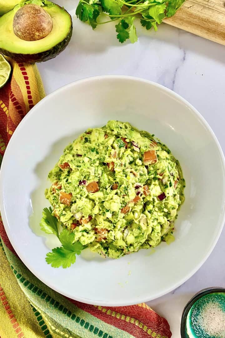 guacamole with cooked carrots