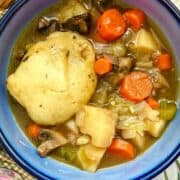 vegan Irish stew closeup