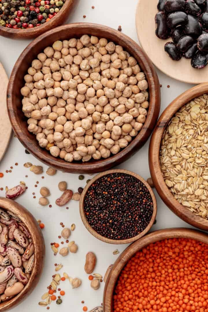 whole grains in bowls