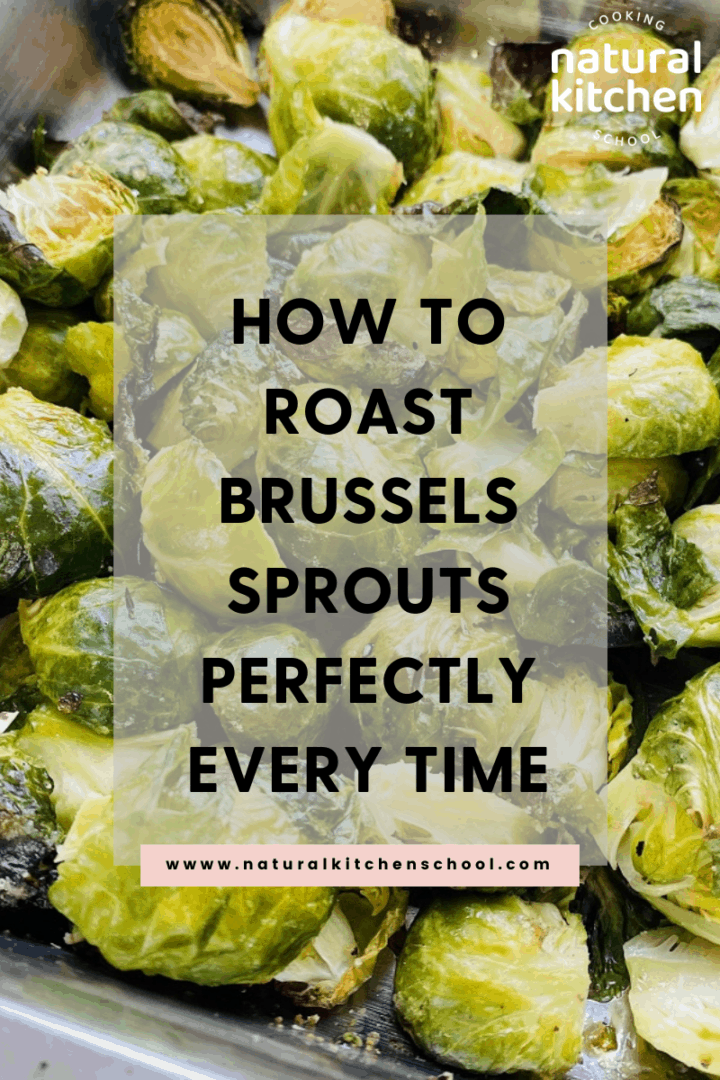Roasted Brussels sprouts in a sheet pan