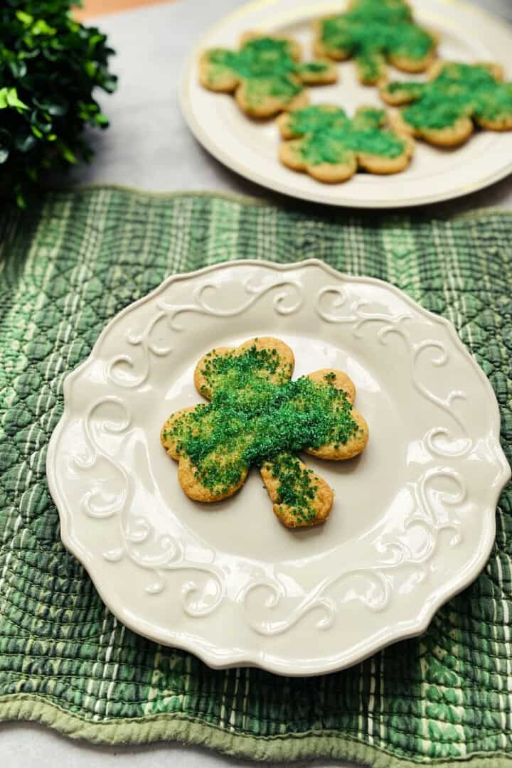 sand tart cookies for St. Patrick's Day