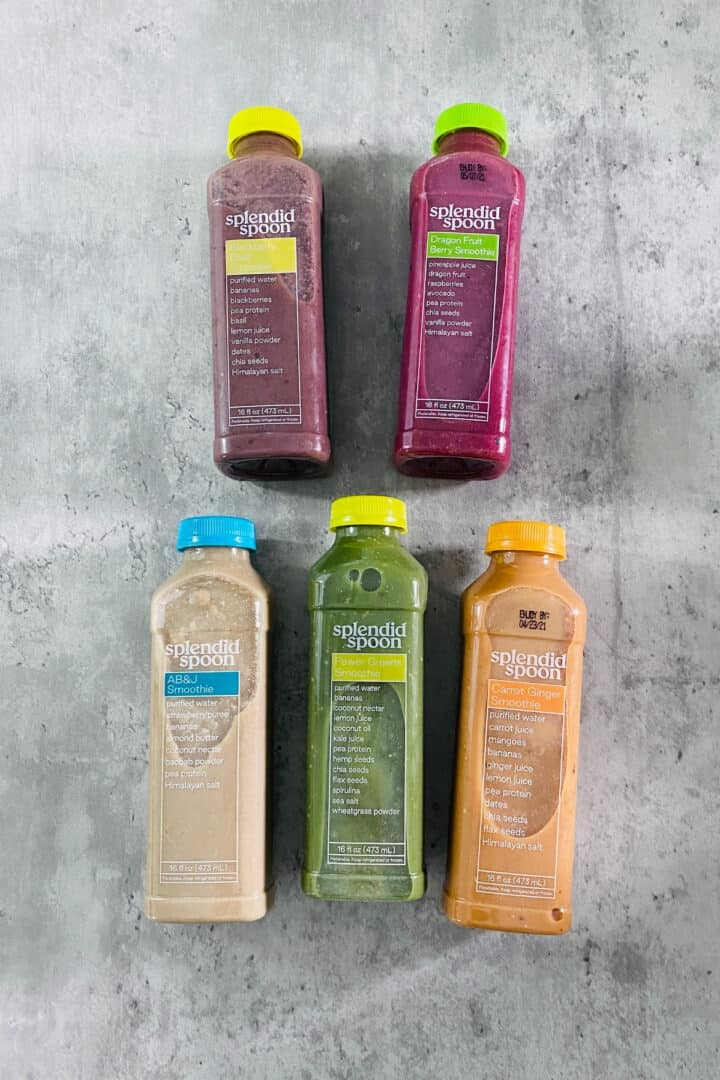 smoothies in plastic bottles
