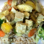 Heart-Healthy Curried Pumpfu Stirfry